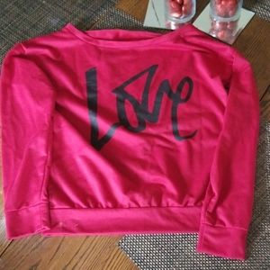 "Super cute "" Love "" sweatshirt.   Size small."